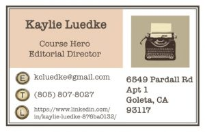 kaylie card